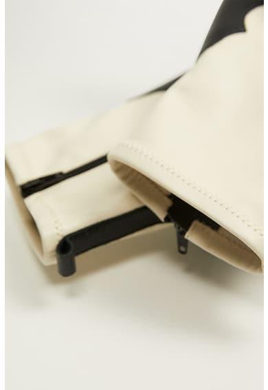 Mango Botine de piele, cu garnituri de piele ecologica Western Femei
