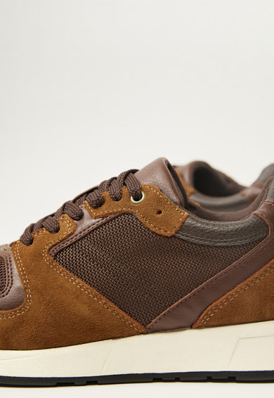 Mango Pantofi sport cu garnituri de piele intoarsa Runsoft Barbati