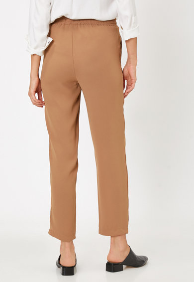 KOTON Pantaloni crop cu talie inalta Femei