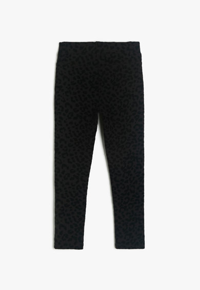 KOTON Pantaloni conici cu animal print Fete