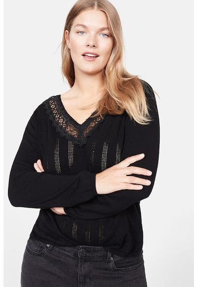 VIOLETA BY MANGO Pulover din tricot fin cu garnitura de dantela Piqui Femei