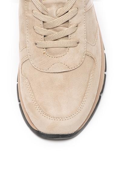 Tamaris Pantofi sport de piele intoarsa cu insertii lacuite Femei