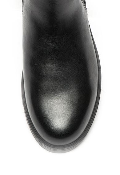 Tamaris Ghete Chelsea de piele cu barete cu catarama si partile laterale elastice Femei