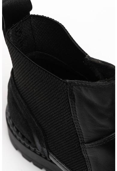 Tamaris Ghete Chelsea de piele cu garnitura de piele intoarsa Femei
