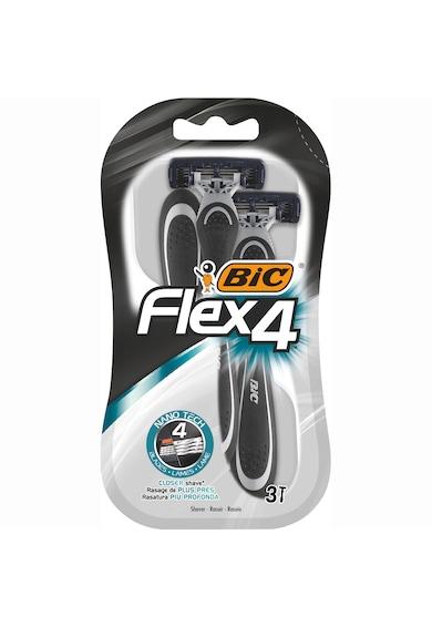 Bic Aparat de Ras pentru barbati  Flex 4, 4 lame, pachet standard, 3 bucati Barbati