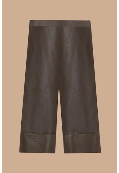 Fiorella Rubino Pantaloni crop de piele ecologica Femei