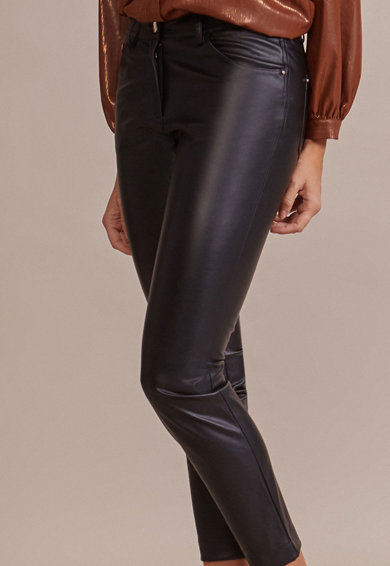 Oltre Pantaloni crop skinny, de piele ecologica Femei