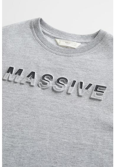 Mango Bluza sport cu imprimeu text Massive Baieti