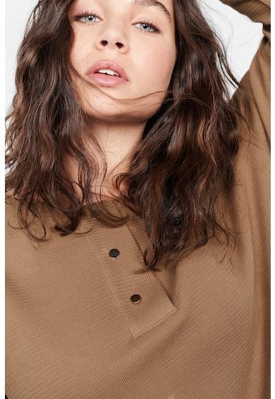 VIOLETA BY MANGO Bluza de bumbac cu nasturi decorativi Femei