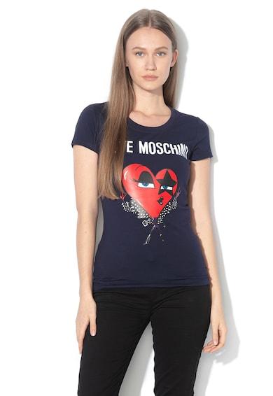 Love Moschino Tricou cu imprimeu logo si grafic Femei