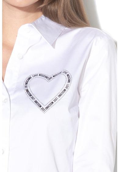 Love Moschino Риза с лого и декоративни камъни Жени