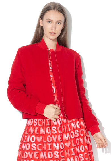 Love Moschino Jacheta bomber din amestec de lana Femei
