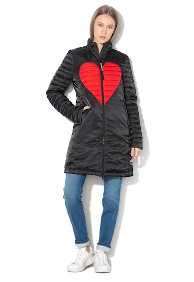 Love Moschino Дълго зимно яке с шарка на сърца Жени