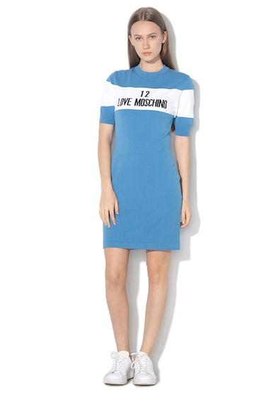 Love Moschino Rochie tricotata cu model logo Femei