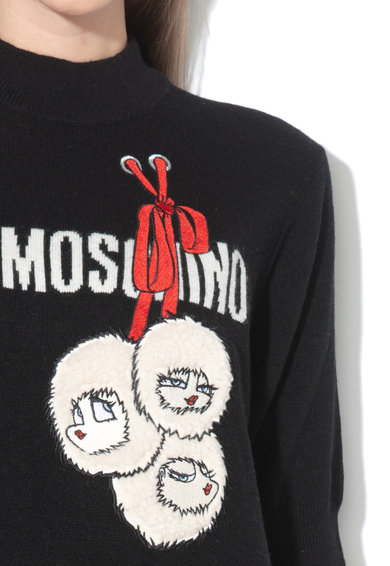 Love Moschino Rochie din amestec de lana, cu logo Femei