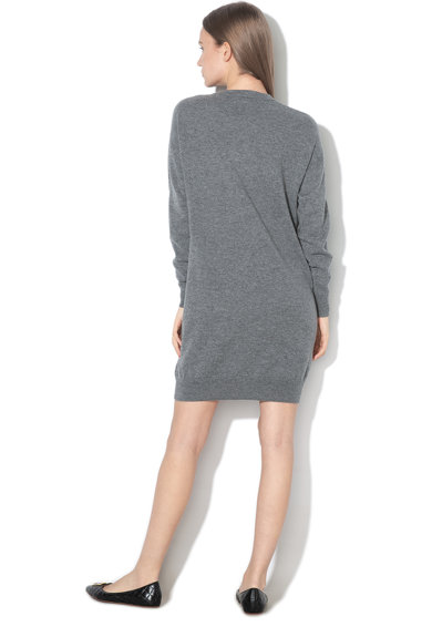 Love Moschino Rochie tip pulover din amestec de lana si casmir, cu insertii stralucitoare Femei