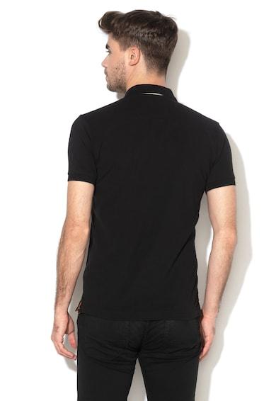 LA MARTINA Tricou polo slim fit cu broderie logo Barbati