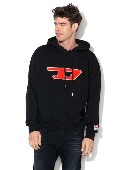 Diesel Division kapucnis pulóver logós rátéttel férfi