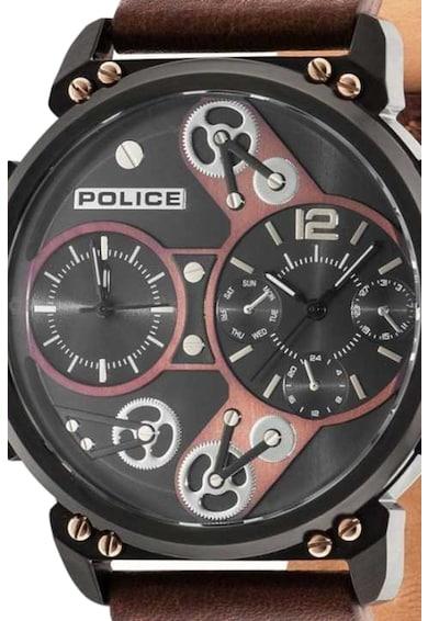 Police Ceas analog cu doua fuse orare Barbati