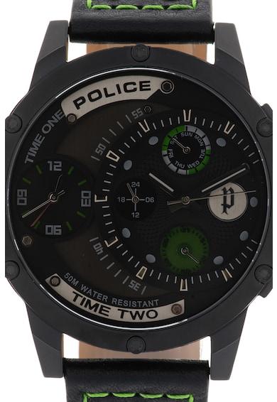 Police Ceas cronograf cu o curea de piele Barbati