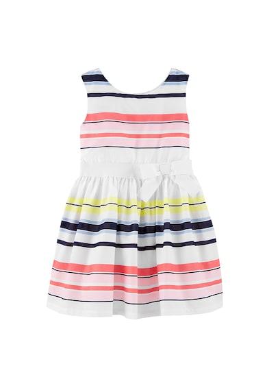Carter's Раирана рокля от поплин с панделка Момичета