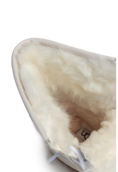 UGG Ghete impermeabile din piele cu garnituri din blana sintetica Adirondack III Fluff Femei