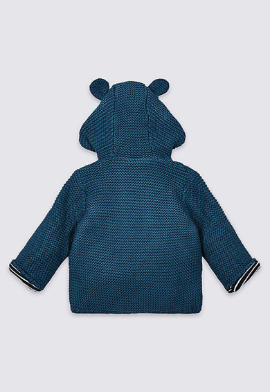 Marks & Spencer Cardigan din tricot cu gluga Baieti