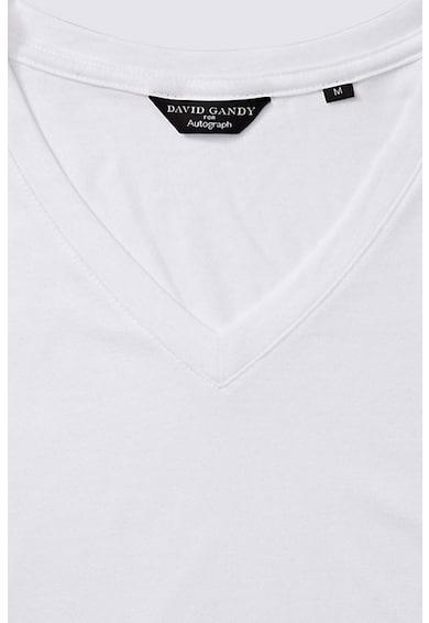Marks & Spencer Tricou din amestec de modal, cu decolteu in V Barbati