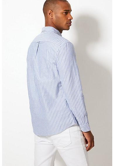 Marks & Spencer Camasa cu guler fixat cu nasturi si model in dungi Barbati