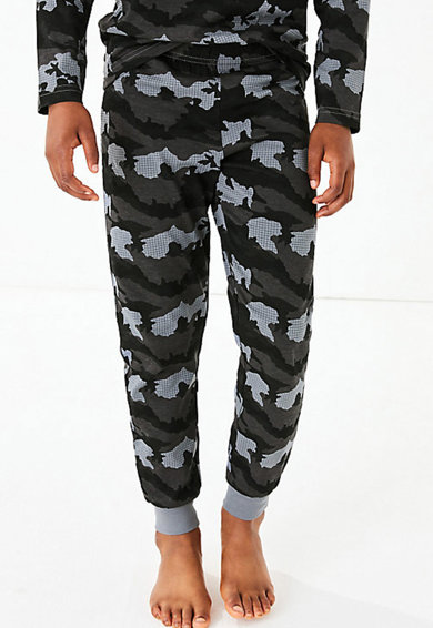 Marks & Spencer Set de pijamale cu model camuflaj - 4 piese Baieti