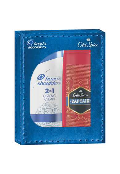 Head&Shoulders Set cadou: Sampon  2in1 Classic Clean, 400 ml + Gel de dus Old Spice Captain, 250 ml Femei