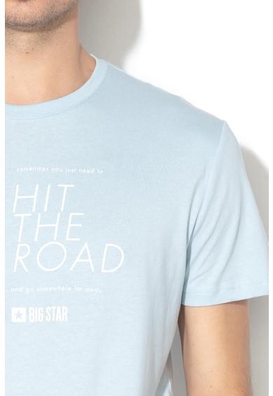 Big Star Feliratos és fotómintás póló férfi
