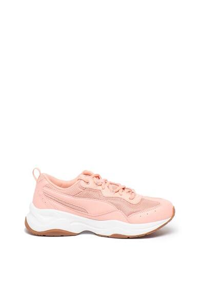 Puma Pantofi sport de piele ecologica, cu insertii de plasa Cilia SoftFoam+ Femei