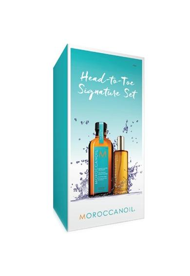 Moroccanoil Set  Head to Toe: Ulei de corp, 50 ml si Tratament de par Light, 100 ml Femei