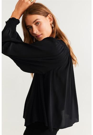 Mango Bluza vaporoasa cu model victorian Vale Femei
