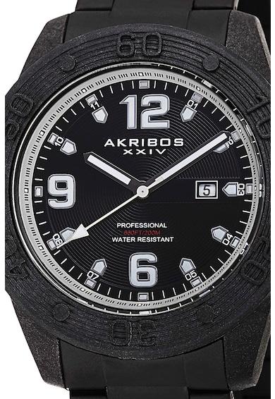AKRIBOS XXIV Ceas rotund cu bratara metalica Barbati