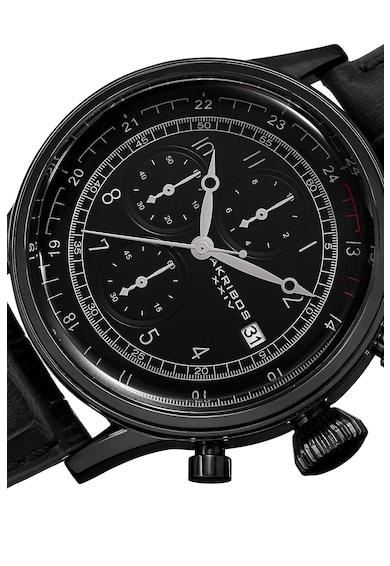 AKRIBOS XXIV Ceas cronograf cu o curea de piele 2 Barbati