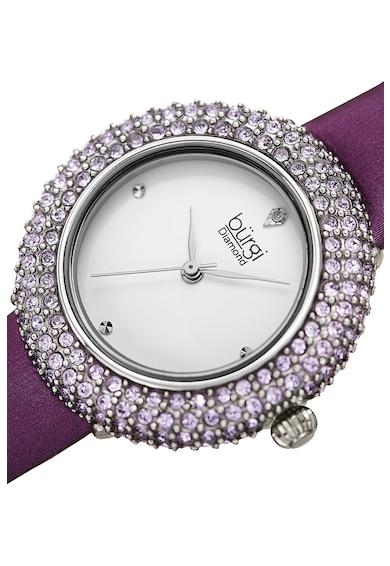 BURGI Ceas decorat cu cristale Swarovski® si 1 diamant Femei