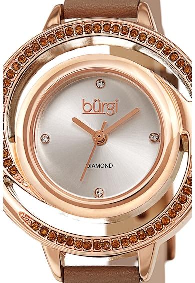 BURGI Ceas analog decorat cu cristale Swarovski® si diamante Femei