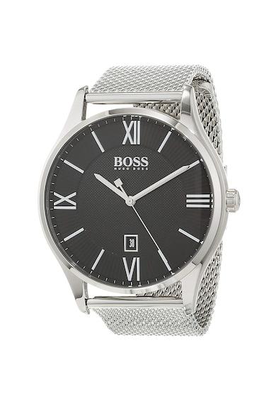 HUGO BOSS Часовник с метална мрежеста верижка Мъже