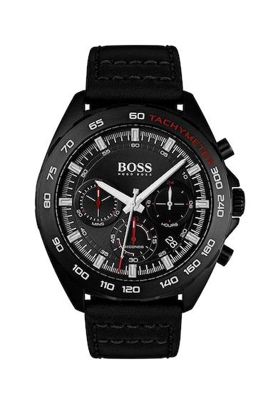 Boss Hugo Boss Ceas cronograf, cu o curea de piele Barbati