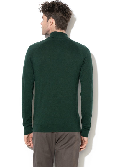 Selected Homme Pulover din lana Merinos cu guler inalt Newblade Barbati