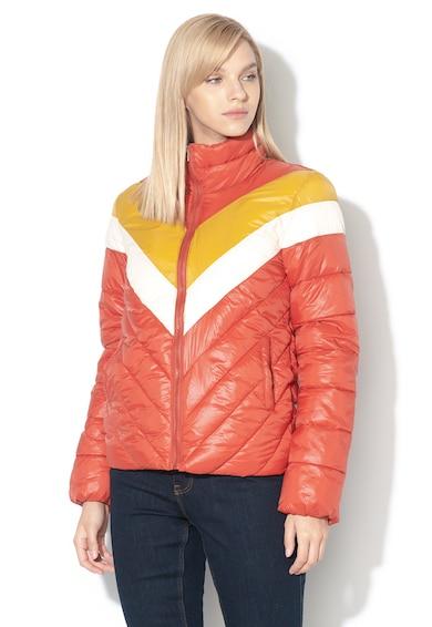JdY Jacheta cu vatelina subtire si model colorblock Luca Femei