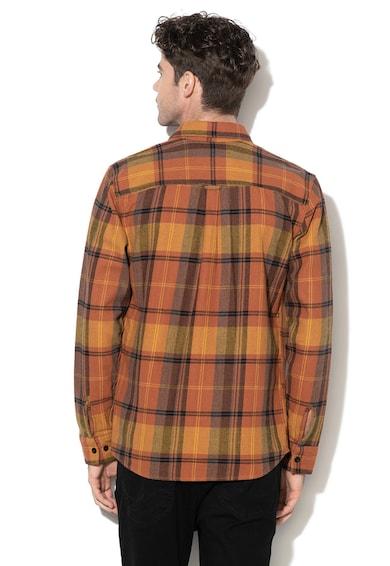 Jack&Jones Camasa comfort fit, din flanel, cu model in caroruri Spencer Barbati