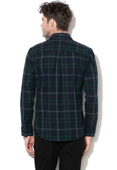 Jack&Jones Camasa comfort fit, din flanel, cu model in caroruri Spencer Barbati