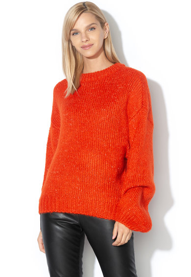 Only Pulover tricotat cu maneci bufante Linetta Femei
