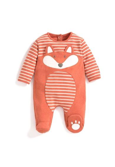JoJo Maman Bebe Set de salopeta, botosei si caciula cu design vulpe Fete