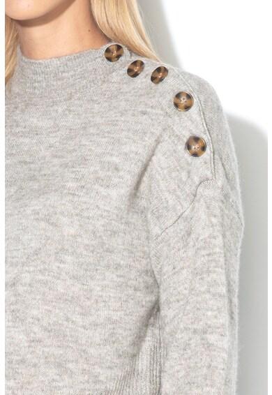 Vero Moda Pulover din amestec de lana cu nasturi pe umar Agoura Femei