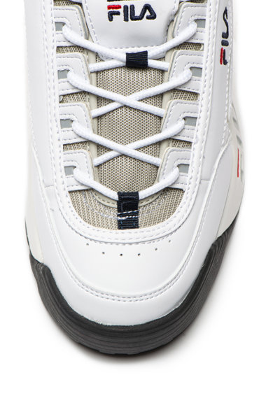 Fila Pantofi sport de piele ecologica si material textil, cu talpa cu striatii Barbati