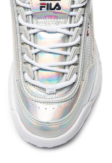 Fila Pantofi sport de piele ecologica, cu aspect cu irizatii Disruptor Femei